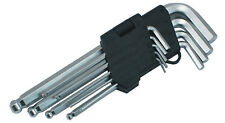 Jeu de 9 clés Allen Hexagonale 6 Pans Tête Ronde  Chrome Vanadium de 1.5 à 10 mm