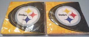 Pittsburgh Steelers Disposable Napkins - 16 Pack x2 NFL Party Tailgate - NEW
