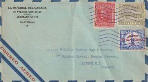 1933 Guatemala cover sent from Guatemala to London UK