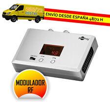 Modulador TV domestico SCART Uhf-vhf con indicador canal Goobay