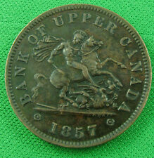 1857 one penny bank upper Canada PC-6D corroded
