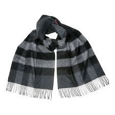 Burberry Giant Exploded Check Cashmere Scarf - Charcoal Check 3957669