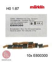 Märklin E-600300 H0 00 gauge 1:87 scale spare parts 10x Brush couple locomotive