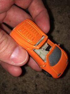 Vintage Hot Wheels Pontiac Orange Convertible—Bottom Reads '93 Warner