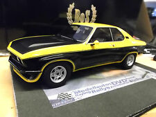 OPEL Manta A TE 2800 gelb yellow schwarz Black 1975 V6 BOS Resin 1:18