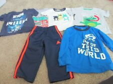 LOT OF 2T, TODDLER BOY'S CLOTHING, 5 SHIRTS, 1 PAIR OF ADDIDAS,