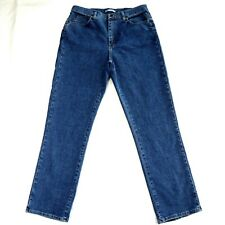 Lee Womens Jeans Relaxed Fit at the Waist Striaght Leg Medium Wash Size 14 Long