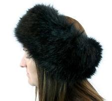 Black Faux Fur Headband Head Wrap Ear Muff Winter Ear Warmer Women Girl Fashion