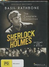SHERLOCK HOLMES THE COMPLETE COLLECTION - BASIL RATHBONE - 14 FILMS ON 7 DISCS