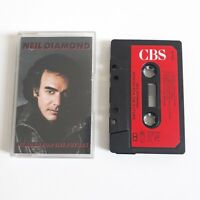 NEIL DIAMOND HEADED FOR THE FUTURE CASSETTE TAPE 1986 RED PAPER LABEL CBS UK
