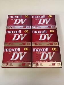 6 NEW Sealed MAXELL Mini DV Cassette Tapes DVM60SE Video Camera Camcorder 60 Min