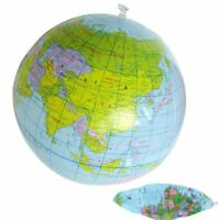 Inflatable 40CM Globe Atlas World Map Earth Blow Up Ball Toys Educational Learn