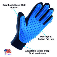 A One Silicone Pet Brush Glove Deshedding Gentle Pet Grooming Dogs, Cats