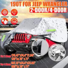 Waterproof Car Cover For Jeep Wrangler 2 Door 4 Door All Weather Protection Us Fits Jeep