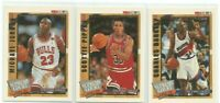 MICHAEL JORDAN/PIPPEN/BARKLEY 1992-93 NBA HOOPS SUPREME COURT INSERTS