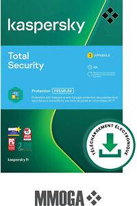 Kaspersky Total Security 2021 (3user/1year) - 3 Appareil | 1 An PC iOS - FR & UE
