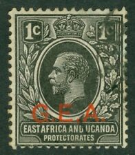 SG 45b Tanganyika GEA ½d black/vermilion OVPT. Very fine used CAT £16