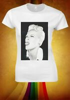 Singer Pink Women T-shirt Alecia Beth Moore P!nk Pop Rock R&B Music Finger W161