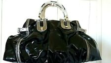 Authentic Large GUCCI Pop Bamboo Dialux Patent Leather Bag Tote