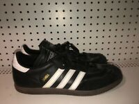 Adidas Samba Classic Mens Leather Athletic Lifestyle Shoes Size 11 Black