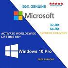 GENUINE WINDOWS 10 PRO 32/64-BIT OEM ORIGINAL LICENSE KEY SCRAP PC