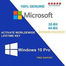 Windows 10 Authentique Pro 32/64-BIT OEM Original Clé de licence ferraille PC