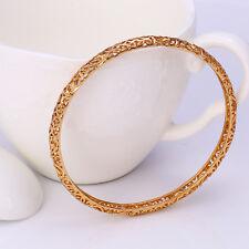 """9ct 9k Yellow """"Gold Filled"""" Ladies Girl Lovely Bangle Bracelet. 62mm Gift"""""""