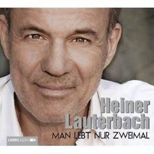 HEINER LAUTERBACH - MAN LEBT NUR ZWEIMAL 4 CD HÖRBUCH BIOGRAFIE NEU