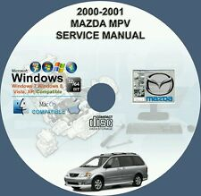 MAZDA MPV 2000 - 2001 SERVICE REPAIR MANUAL ON CD 00 01