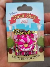 Disney  Donut Shop  Cheshire Cat Pin Alice Wonderland  NEW LE pin
