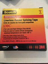 Scotch Linerless Rubber Splicing Tape 130c 1 In X 30 Ft Black 1 Roll