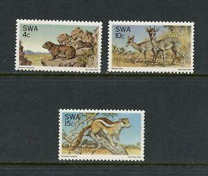U926  Southwest Africa  1976  fauna nature protection  3v.    MNH