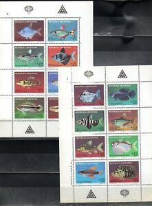 ARGENTINA - 2 BLOCK FISHES  (#2893)