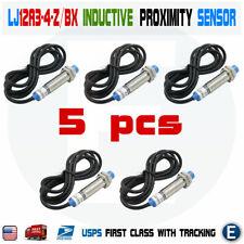 5pcs Lj12a3 4 Zbx Inductive Proximity Sensor Detection Switch Npn Dc6 36v Usa