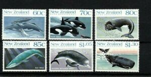 MINT 1988 NEW ZEALAND NZ ROSS DEPENDENCY WHALES  STAMP SET OF 6