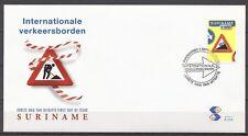 SURINAME VERKEERSBORD HELLING 3.9.2003       FDC SU-273