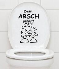 WC Aufkleber Sticker Folie - DEIN ARSCH GEHÖRT MIR - Bad Klo Toilettendeckel