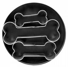 3x Kitchen Stainless Steel Dog Bone Cookie Cutter Biscuit Fondant Pastry Baking