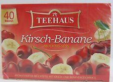 Teehaus Cherry Banana - 40 tea bags- Made in Germany
