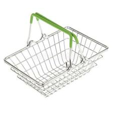 Kids Shopping Basket Role Play Grocery Supermarket Food Play Green Small