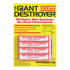 Giant Destroyer Bomb 4 Pack Gophers Moles Rats Golf Courses Yards Garden Lawn