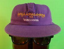 Lollapalooza Vintage 1993 Vancouver Rare PURPLE Adjustable Ball Cap Excellent!