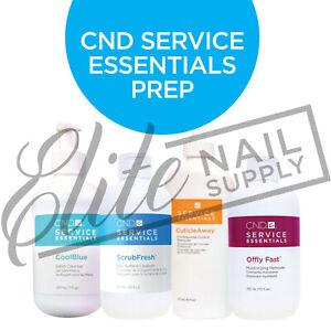 CND Service Essentials Prep - Cool Blue, Cuticle Away, Offly Fast & ScrubFresh