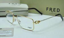 FRED Lunettes Force 10 C1 8414 005 Champagne Palladium Eyeglasses 55mm NIB