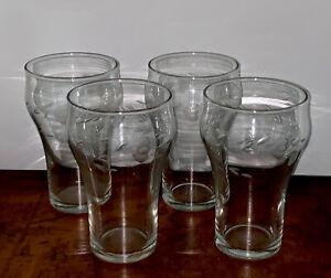 Princess House Crystal Heritage Beverage Glasses Set Of 4 Coca Cola Shape