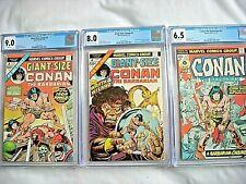 Marvel CONAN #57 CGC 6.5 FN+ GIANT-SIZE #3-4 CGC 8.0-9.0 1975