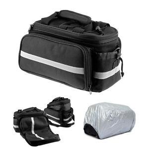 Bike Bicycle Rear Rack Bag Seat Saddle Storage Pannier Travel Pack Waterproof