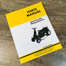Parts Manual For John Deere R70 R72 R92 Riding Mowers Catalog Book Assembly
