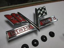 1966 1967 66 67 Chevelle El Camino new pair of 502 SS cross flags fender emblems
