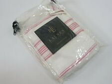 1 Ralph Lauren SUMMER COTTAGE PINK White Striped Euro Sham NEW